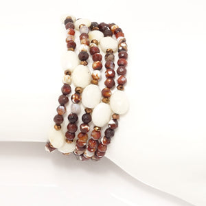 Fire Agate/Cream