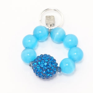 Light Blue Rhinestone Ball