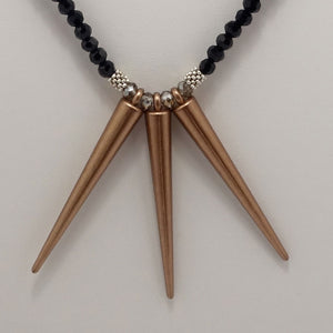 Copper Spike Necklace