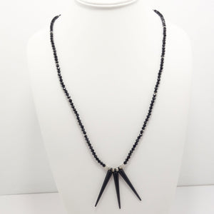 Matte Black Spike Necklace