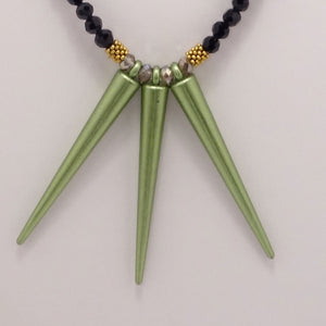 Green Spike Necklace