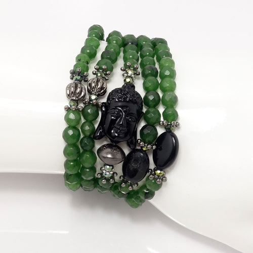 Dark Green/Black Buddha