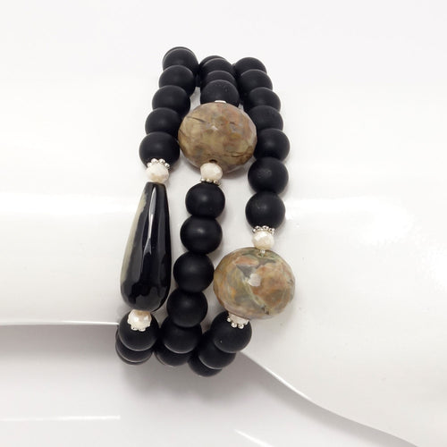 Black/Black and Tan Gemstones