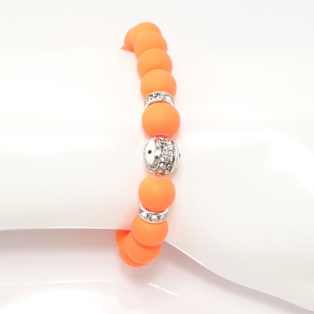Orange/White Evil Eye