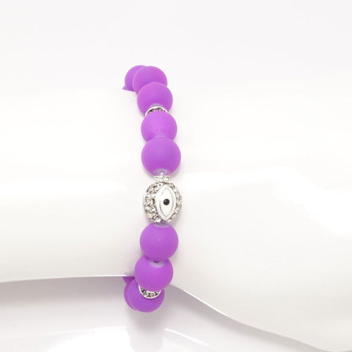 Purple/White Evil Eye