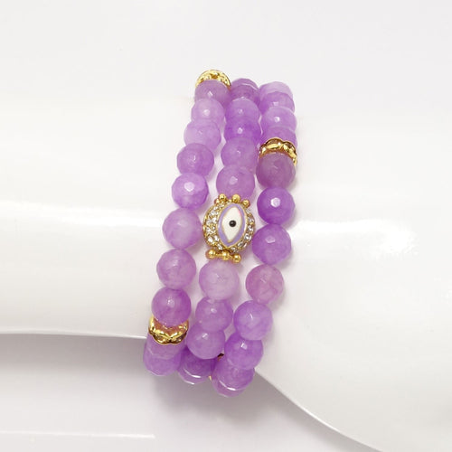 Pink/Purple/Purple Evil Eye