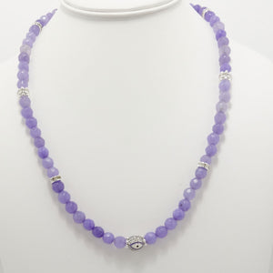 Light Lavender/White Evil Eye