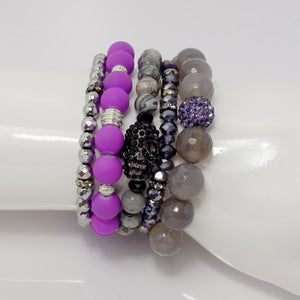 Pretty in Purple Five Bracelet Bundle
