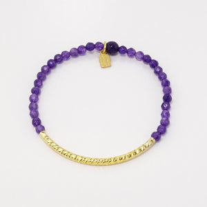 Dark Purple Amethyst/Gold