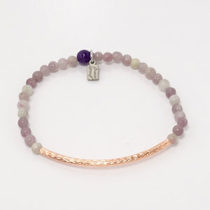 Lavender Grey Agate/Rose Gold