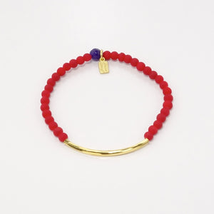 Red Rubber Glass/Gold