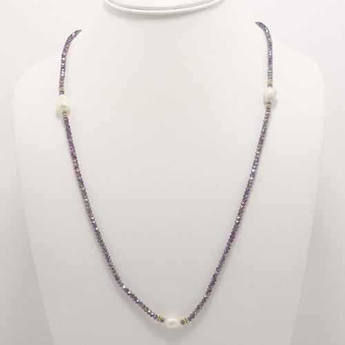 Shiny Purple Pearl Necklace