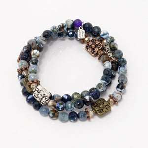 Multi-Colored Navy/Mixed Metal Tones