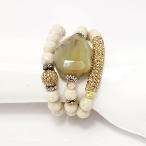 Fossile Jade Gold Set