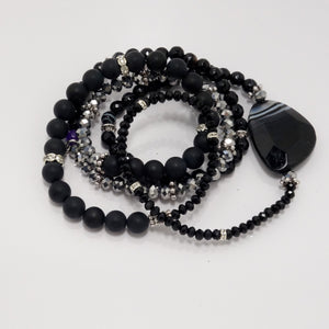 Black Out Wrap Bracelet
