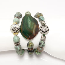 Splash of Green Bracelet Set