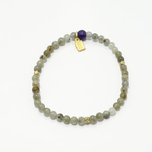 Labradorite Beaded Bracelet/Gold