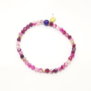 Multi Pink/Gold Beaded Bracelet