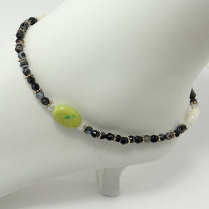 Black & White Agate Ankle Bracelet