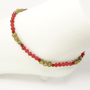 Red Heart Ankle Bracelet