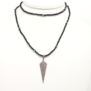 Black Tear Drop Black Diamond Double Choker