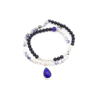 Royal Blue Tear Drop Double Wrap