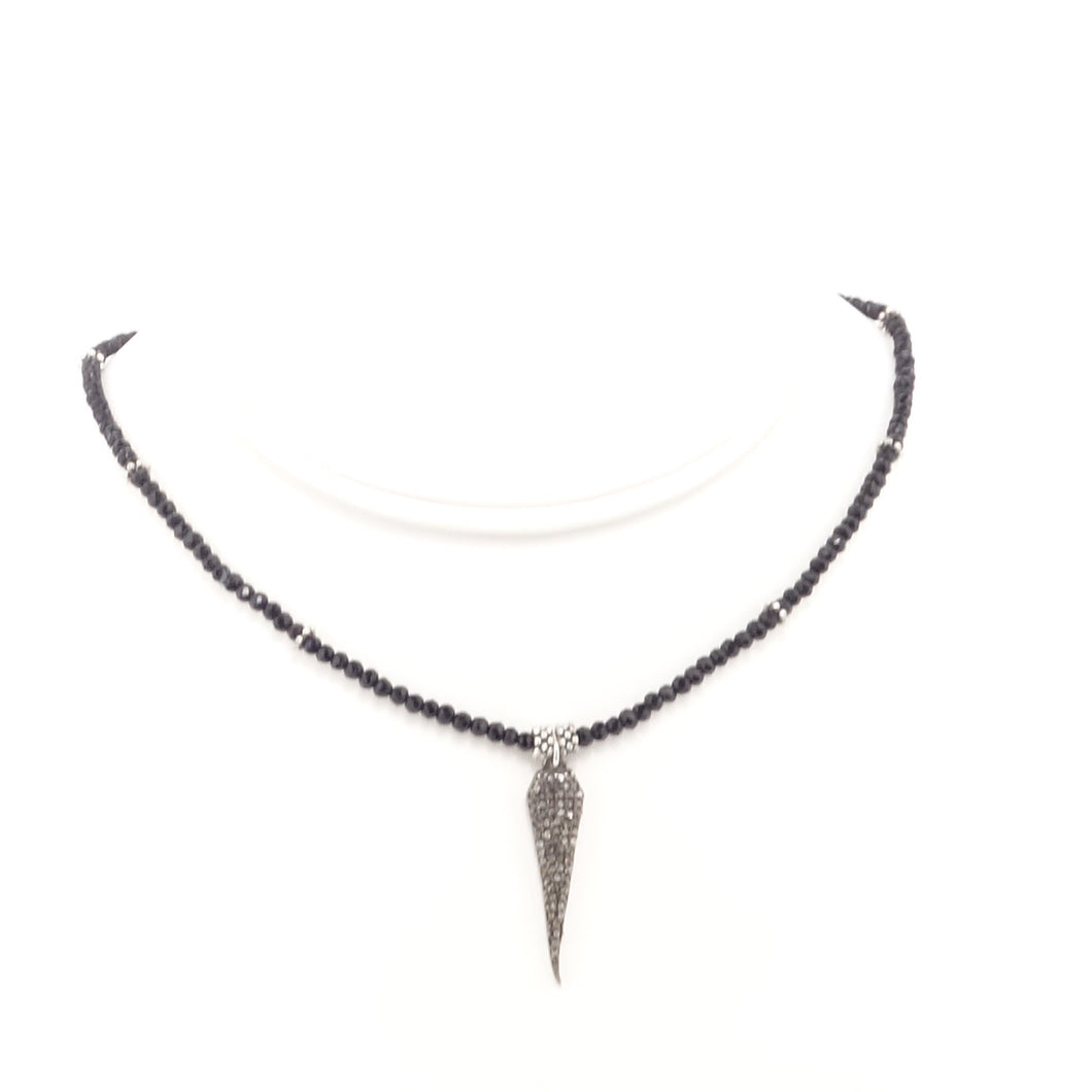 Black Tear Drop Black Diamond Choker