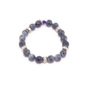Black Spider Beaded Bracelet Set