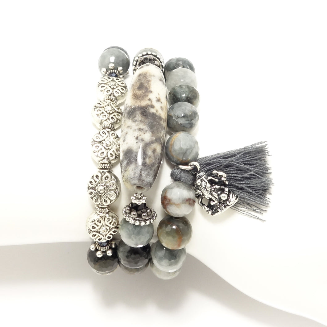 Ganesh Tassel Beaded Bracelet Set