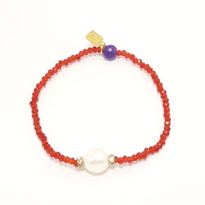 Shinny Red Pearl Bracelet