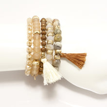 Tan Tassel Beaded Bundle Set