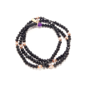 NYE 2018 Rose-Gold Beaded Bracelet Bundle