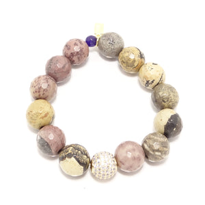 Maroon Beaded Bracelet Bundle