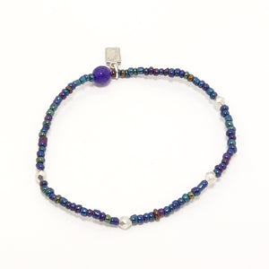 Blue Dalmation Beaded Bracelet Bundle