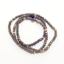 Purple Rainbow Beaded Bracelet Bundle