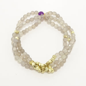 Light Grey Gold Multi-Cluster Set