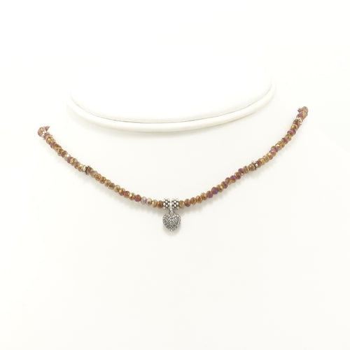 Bronze Heart Black Diamond Choker