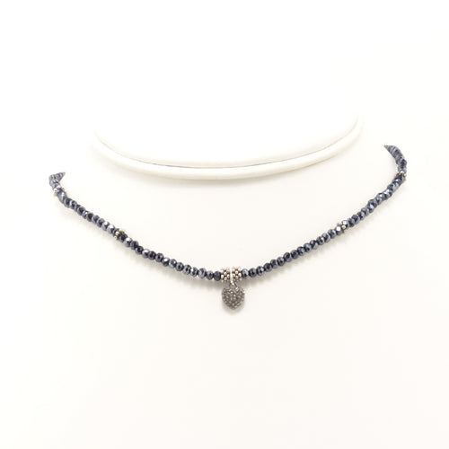 Midnight Heart Black Diamond Choker