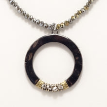 Black Round Circle Double Choker