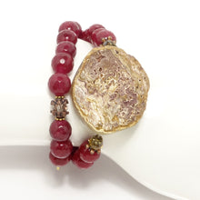 Maroon Dual Beaded Wrap Bracelet