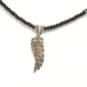 Black Feather Black Diamond Choker