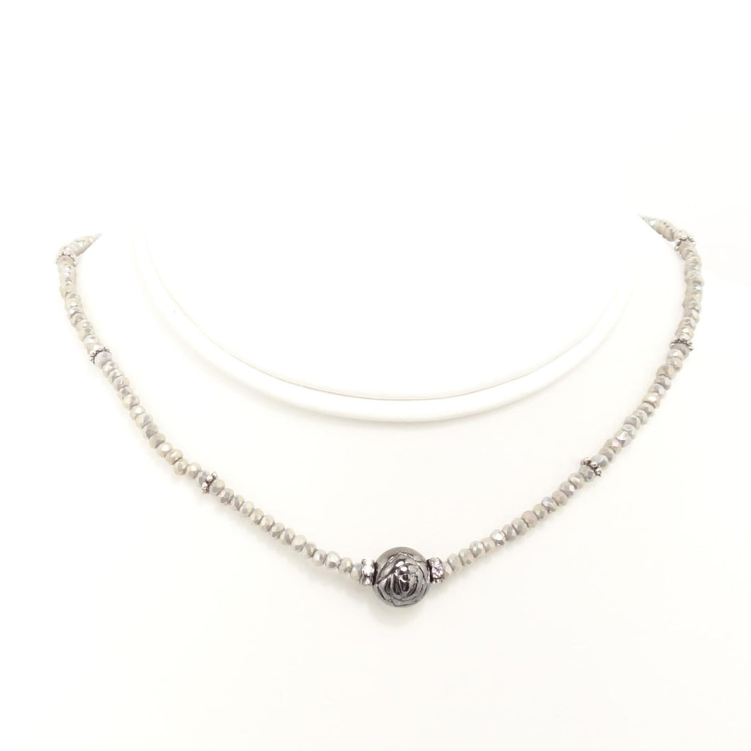 Grey Hematite Ball Choker