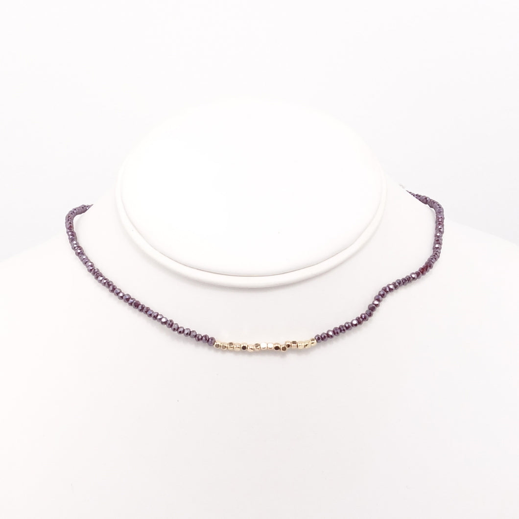 Raspberry Gold Choker