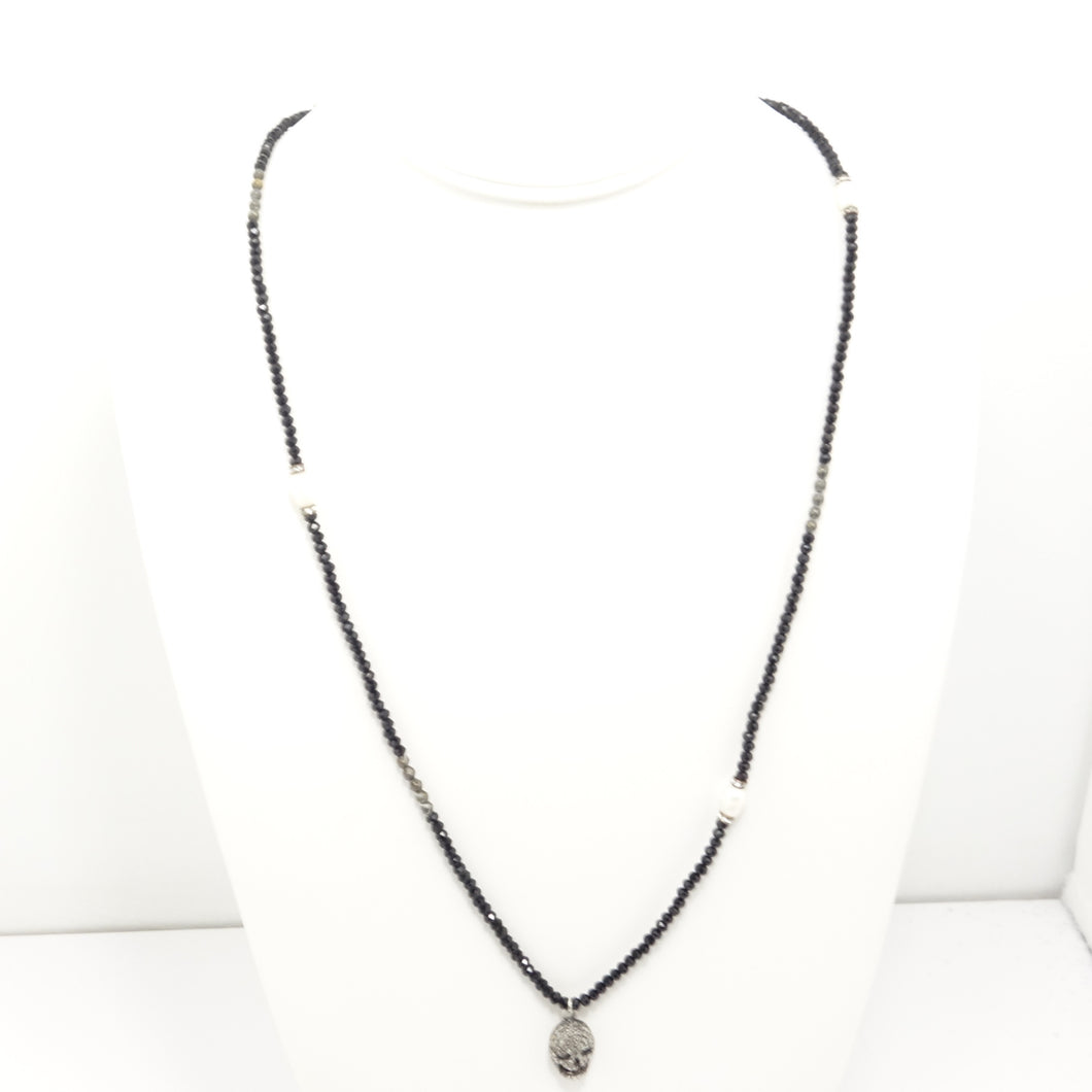 Black Skull Black Diamond Necklace