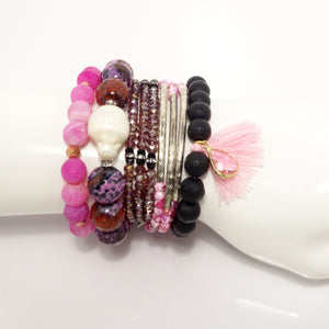 Pink Love Beaded Bracelet Bundle