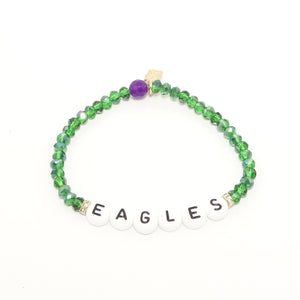 EAGLES White Name Bracelet