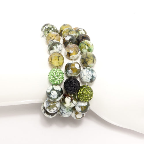 Green Spider Beaded Bracelet SSet