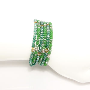 Eagles Green Triple Wrap Bracelet Set