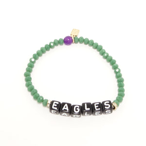 EAGLES Black Name Bracelet