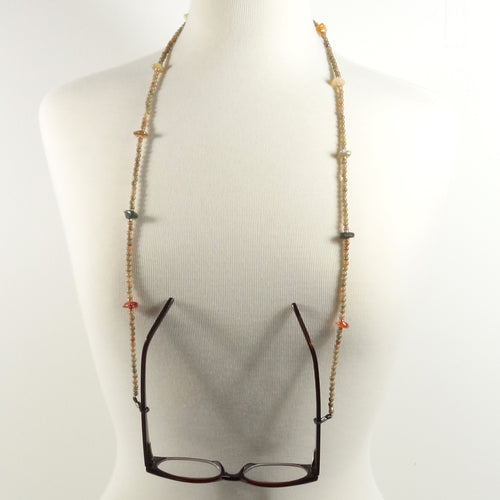 Nude Gemstone Eyeglass Beaded Cord